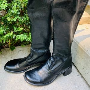 Franco Sarto Black Knee High Riding Boot